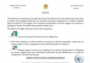 AVIS consignes COVID-19
